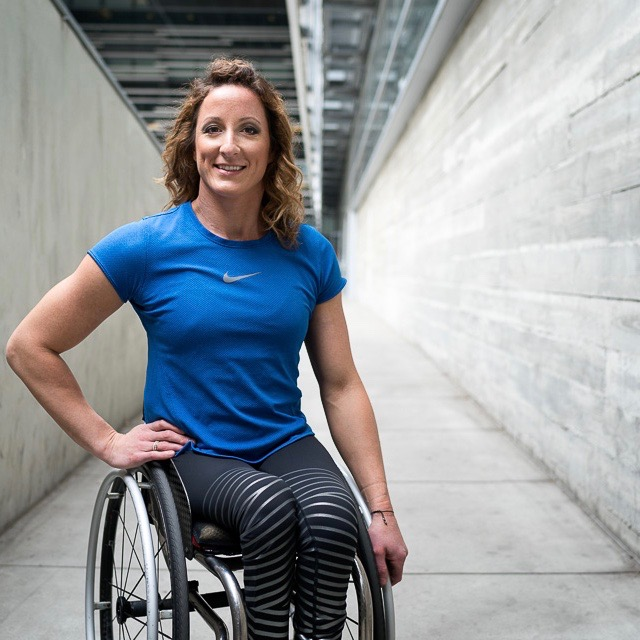 Tatyana McFadden pictured smiling