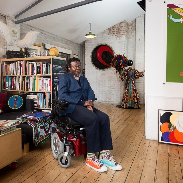 Yinka Shonibare MBE in his studio